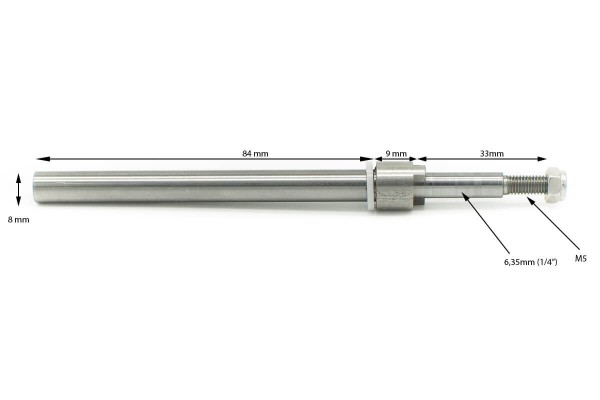 Ersatzwelle | Powertrimm 3 | Flex 6,35mm | Prop 6,35mm
