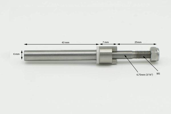 Wellenendstück Powertrimm Midi /Strut 2 für Flexwelle 4,75 und Propeller 4,75