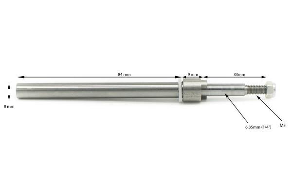Ersatzwelle | Powertrimm 3 | Federstahl 2,5mm | Prop 6,35mm